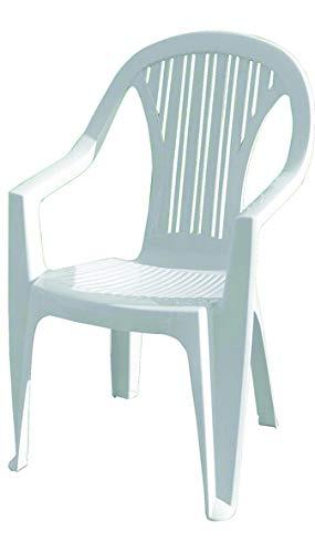Vigor Stuhl aus Kunstharz, Monobloc Ralik, schwer, weiß, Art. 24
