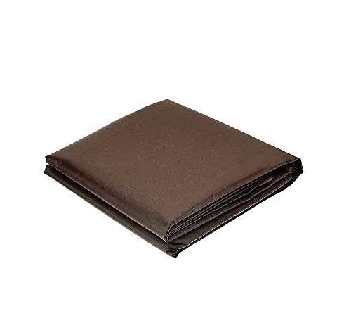 Cubierta para muebles 210D Oxford tela Patio Sofá silla cubierta al aire libre lluvia y polvo cubierta adecuada para exterior y patio marrón 126*126*74cm
