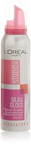 mousse studio line silk&gloss alle micro fibre di seta iperforte 150 ml