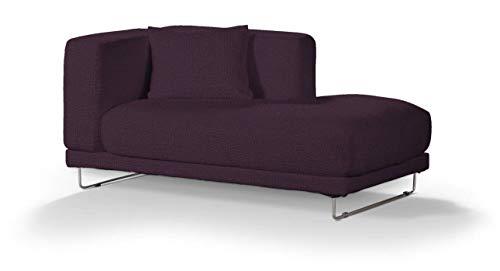Dekoria Tylösand Recamiere rechts Sofabezug Sofahusse passend für IKEA Modell Nikkala violett