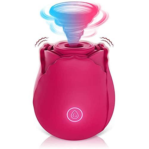 Ablerfly Dispositivo Impermeable Recargable Magnético, Vulva De Chupación Femenina, Masturbándose El Dispositivo De Lamiendo La Lengua Rosa (Diez Modos)