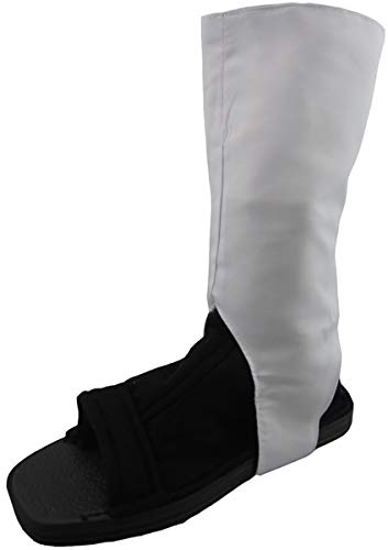 Aishangyide Naruto Ninja Schuhe Cosplay Kakashi/Uzumaki Naruto/Sasuke/Akatsuki Itachi Uchiha/Uchiha Obito, Schwarz und weiß, Größe: 35