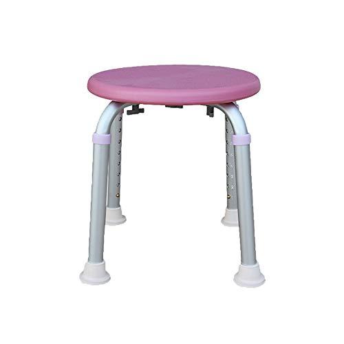 LYP Toilettenstuhl Duschstuhl Duschhocker Leichte Aluminiumlegierung The Elderly Bath Chair,Schwangere Frau Badezimmerhilfe Rutschfester Stuhl Höhe Einstellbar