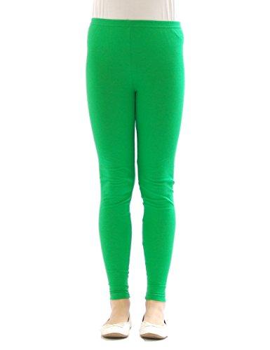 yeset Kinder Mädchen Leggings lang Blickdicht aus Baumwolle Hose Jungen Grün 92