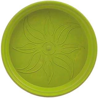 طبق اصيص زرع دائري بلاستيك من مينترا - 10 سم، اخضر فاتح