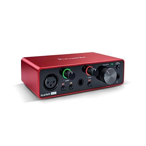 Focusrite MOSC0024 Scarlett Solo 3rd Gen - Interfaccia audio USB da 2 ingressi e 2 uscite, Chitarra/Basso