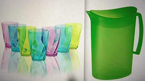 ML Pack 6 Vasos Colores y 1 Jarra de 2l de Agua...