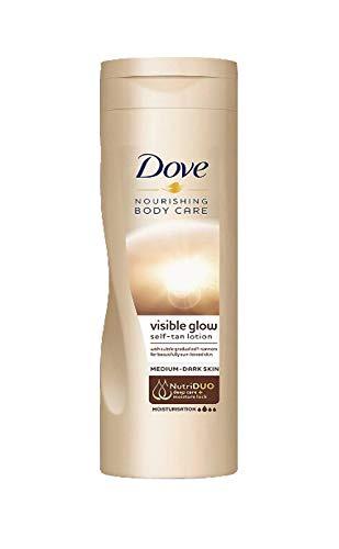 Dove Visible Glow Gradual Self-Tan Body Lotion Medium to Dark 250 millimeter