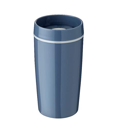 Stelton Rig-TIG by Bring-IT to-Go - Becher/Thermobecher - Blue - Kunststoff/Silikon - (HxD) 16,5 x 8,5cm / 0,34 l