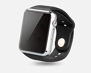 Reloj Inteligente Bluetooth, con Cámara de Podómetro con Ranura para Tarjeta SIM, Smartwatch para Hombre y Mujer con Notificación de Mensaje, Adecuado para Android, Samsung, Xiaomi, Huawei (Plata)