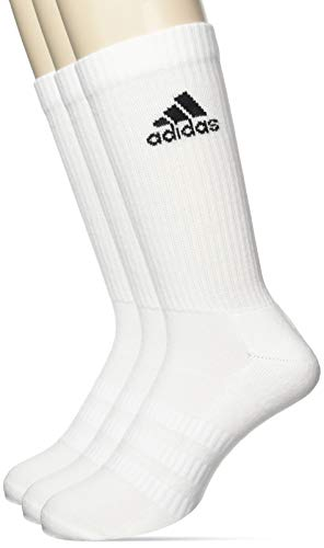 adidas Cush Crw 3pp Socks, Unisex adulto, white/white/black,...