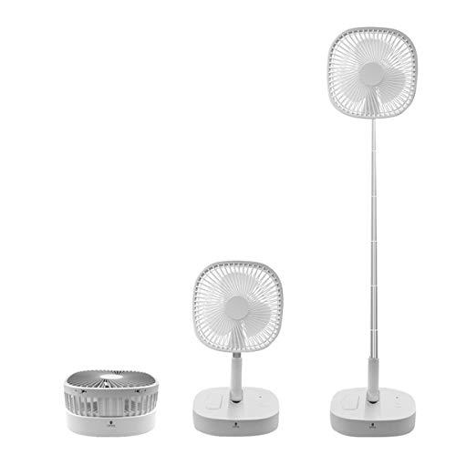 Ponacat Stand Fan, 2 in 1 Telescopic Floor Desk Fan for Charging Mobile Phone, Folding USB 4 Speeds Travel Fan 7200mAh Rechargeable Battery
