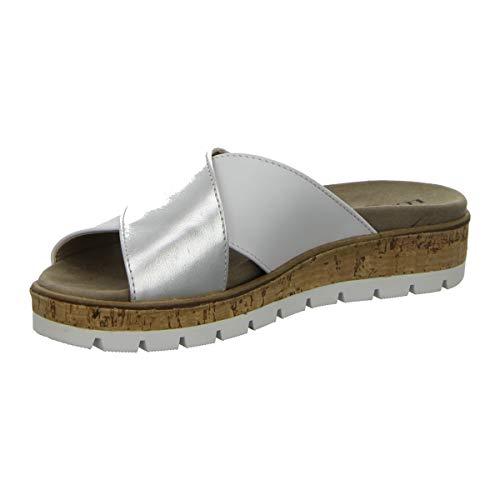 LONGO dames pannenkoeken comfortabele pannen, wit 1021208 zilver 512993