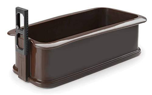 Lacor MOLDE DESMONTABLE CAKE 29x13x7 cm, Silicona, Marrón
