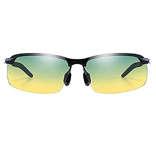 BEIAKE Luz Polarizada Gafas De Sol Adultos Gafas Sombreado Gafas De Sol Protección UV Adecuado para Ciclismo, Correr, Viajar, Playa, Gafas De Pesca,Verde