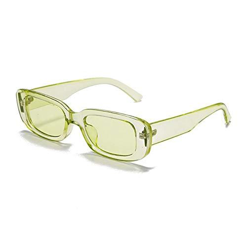 FRGH Gafas De Sol Rectangulares Steampunk para Mujer, Gafas De Sol Punk Uv400 para Conducir, Gafas De Sol con Montura Completa Vintage para Hombre