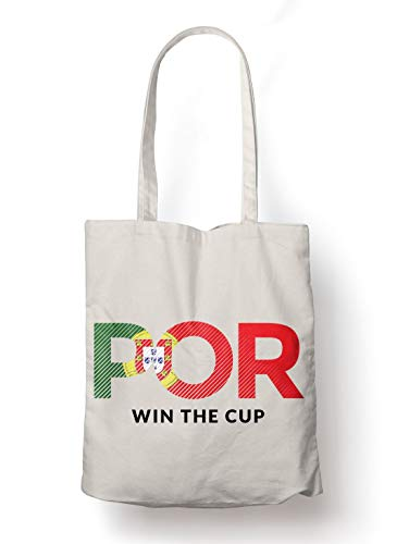 BLAK TEE Portugal Will Win The Football Cup Organic Cotton Reusable Shopping Bag Natural