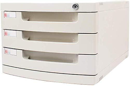 Archivadores Archivo armarios de cajones de almacenamiento de archivos Cabinet Office Supplies cerradura de datos de escritorio pequeño White Label Tidy caja anti-off hebilla de plástico PP - 29.5x39.