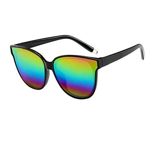ZEZKT gafas de sol con montura grande para mujer y hombre unisex gafas con protección uv para al aire libre moda casual sunglasses de espejadas E