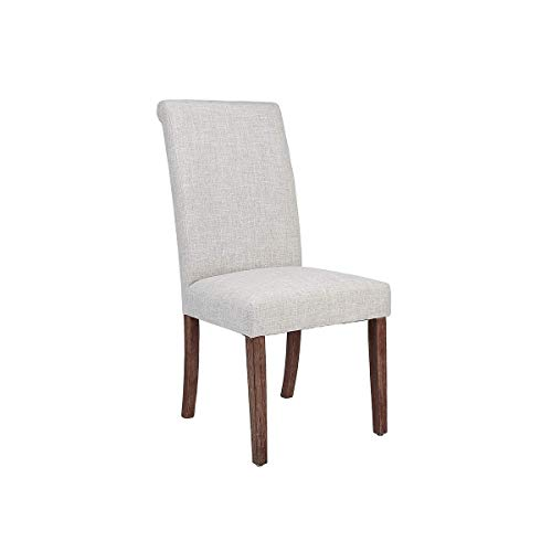 Amazon Com Homepop Parsons Classic Upholstered Accent Dining Chair Single Pack Brown Sage Leaf Chairs