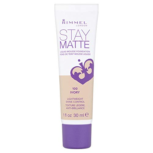 Rimmel London Stay Matte Liquid Mousse Foundation, 100 ivory, 1er Pack (1 x 30 ml)
