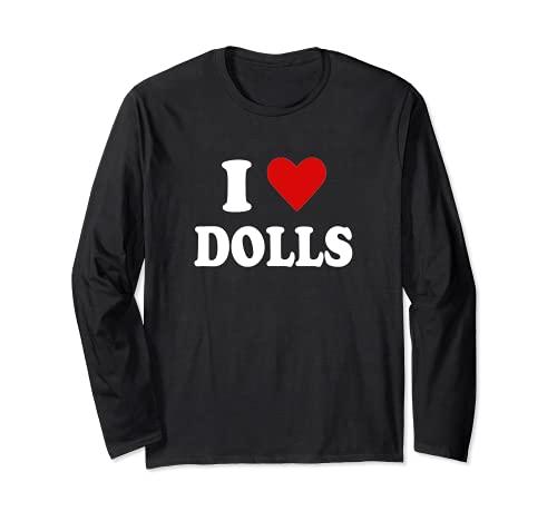 Ich liebe Puppen Langarmshirt