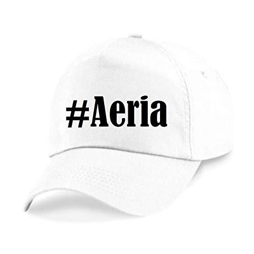 Reifen-Markt Base Cap Hashtag #Aeria Größe Uni Farbe Weiss Druck Schwarz