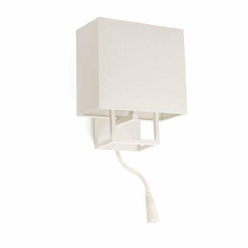 Faro Barcelona 29982 VESPER Lampe applique blanche avec lecteur LED