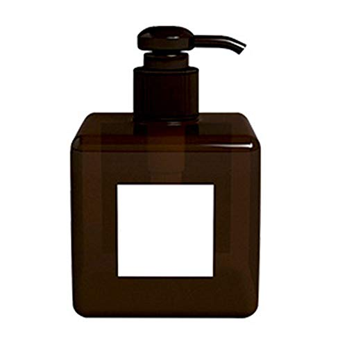 nuiOOui131 - Dispensador de jabón líquido (250/450 ml, plástico Transparente), plástico, marrón, 250 ml