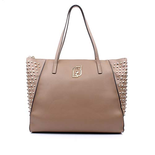 Borsa shopping Liu-Jo tote L in ecopelle colore nuez donna B20LJ59
