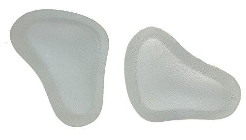 Langlauf Schuhbedarf 2 Paar Mittelfuß Pelotten aus Leder Pelotte zum selbstklebend in T Form - Größen 36-45 (39-40)