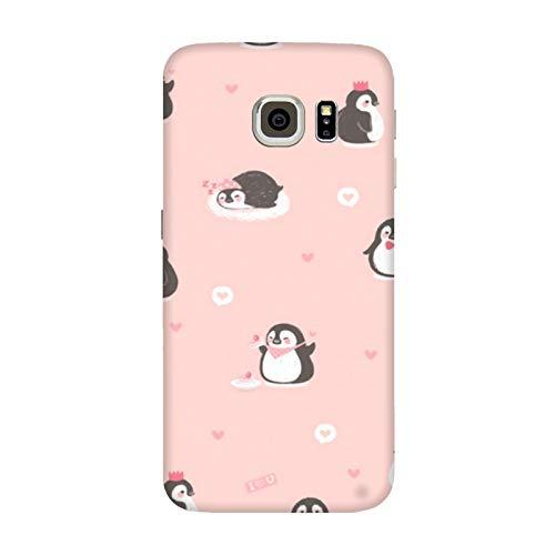 Generico Cover Samsung Galaxy S7 Edge Winter Pinguini Freddo/Custodia Stampa Anche sui Lati/Case Anticaduta Antiscivolo AntiGraffio Antiurto Protettiva Rigida