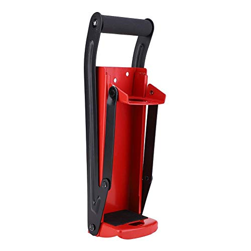 Trituradora de latas, 500ML 16oz y 12oz Smasher Herramienta de reciclaje de botellas de plástico con mango de goma de acero rojo con abridor, aprox.32.5 x 9 x 8cm/12.8 x 3.5 x 3.1in