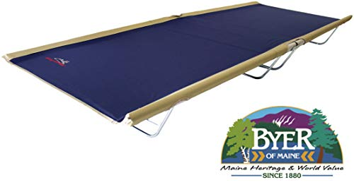 "BYER OF MAINE, Allagash Plus, Cot, Extra Wide, 76""L X 30""W X 8""H, Lightweight Cot, Camping Cots Adult, Holds up to 250lbs, Single, Portable Camping Cot"