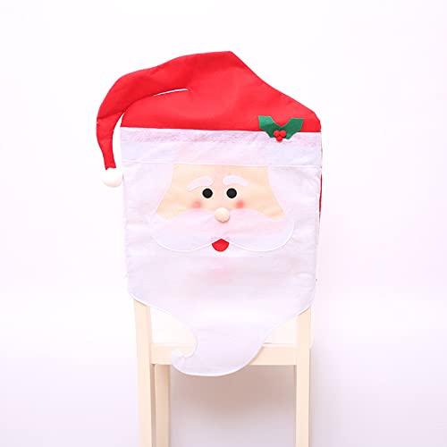 Oukeep Funda De Silla De Navidad Tela No Tejida Decoración De Sombrero De Navidad Funda De Silla Suministros De Navidad Casa De Hotel Decoración De Escena De Navidad Funda De Silla