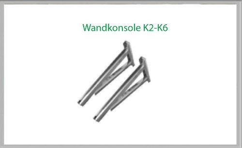 Wandkonsole K5 854mm für Schornsteinsets 130mm