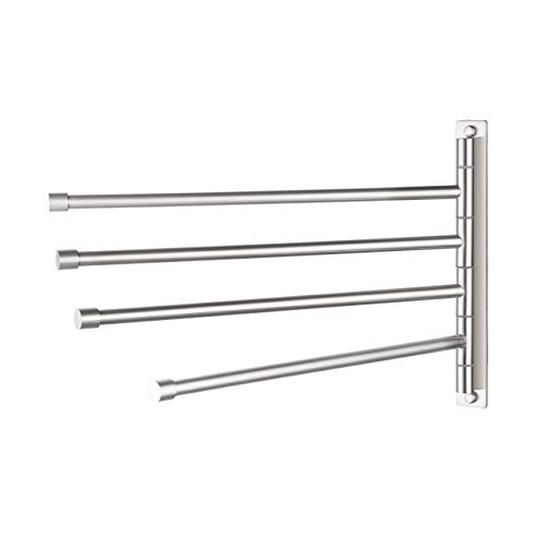 KES Swivel Towel Bar SUS 304 Stainless Steel 4-Arm Bathroom Swing Hanger Towel Rack Holder Storage...
