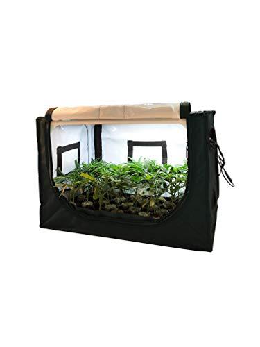 FYTO Base V60 Pro - Zimmergewächshaus mit LED Beleuchtung und Umluftventilator/Anzuchtszelt Stecklingszelt Komplettset Growbox