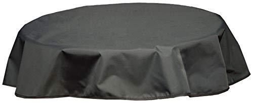 Beo Outdoor tafelkleden waterafstotend, rond, diameter 160 cm, zwart/antraciet