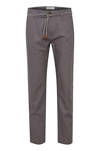 b BLEND Mennix Herren Leinenhose Lange Stoffhose mit Gürtel, Größe:XL, Farbe:Granite (70147)