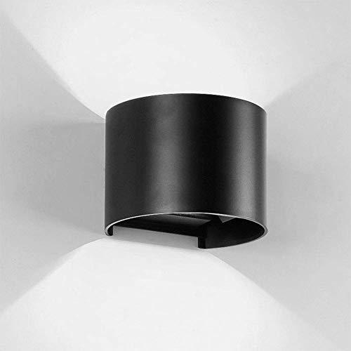 ZHAOJ cilinder LED wandlamp wandlamp 6 W 6000 K wandlamp accessoires waterdicht IP65 naar boven en beneden licht voor hal deur slaapkamer koud wit