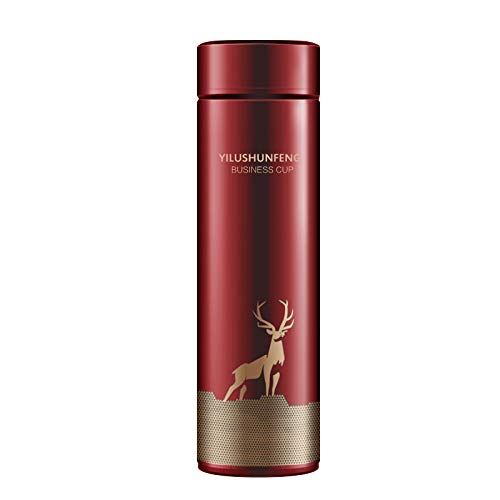 Botella de Agua Inteligente de 450Ml Tazas de Viaje de Acero Inoxidable Taza Aislada Al Vacío Termos Taza de Café con Pantalla Táctil de Temperatura LED para Regalo