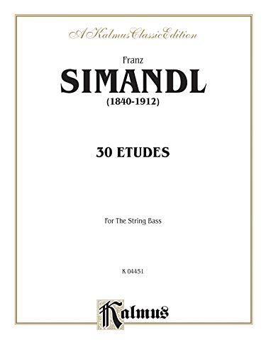 Thirty Etudes for String Bass (Kalmus Edition)