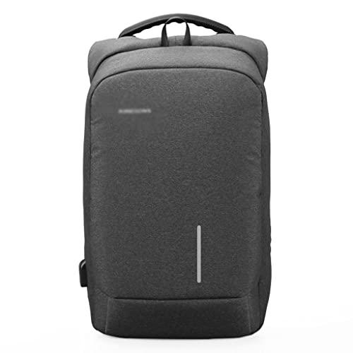 WQXD Mochila Antirrobo De Fibra De Poliéster De 13/15 Pulgadas De La Bolsa De Libros De Laptop USB Mochila Casual Business Travel Zipper Daypack (Color : Dark Grey, tamaño : 13 Inch)