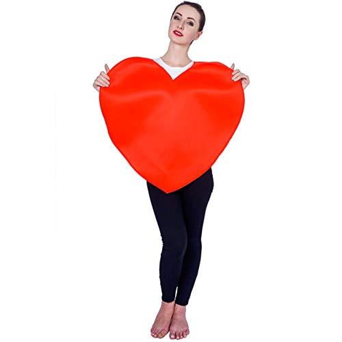 SEA HARE Unisex Rotes Herz Emoticon Kostüm (Einheitsgröße)