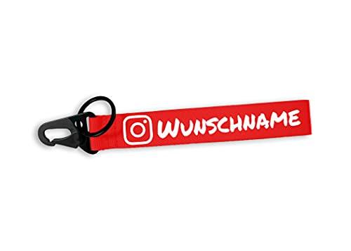 Social Media Anhänger personalisiert - Instagram, Facebook, TikTok, Snapchat, YouTube, Twitter, Discord, Whatsapp - Wunschname Schlüsselanhänger, Auto, Tuning, JDM, Motorrad