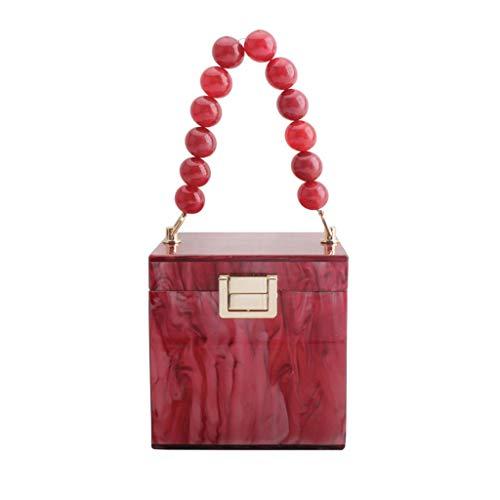 EWAT Bolso de mano de fiesta con forma de caja de regalo para mujer
