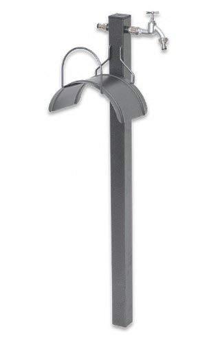 Bradas 8010943001530 AG8300 Garten-Wasserhahn mit Schlauchhalter, Schwarz, 102x28x24 cm