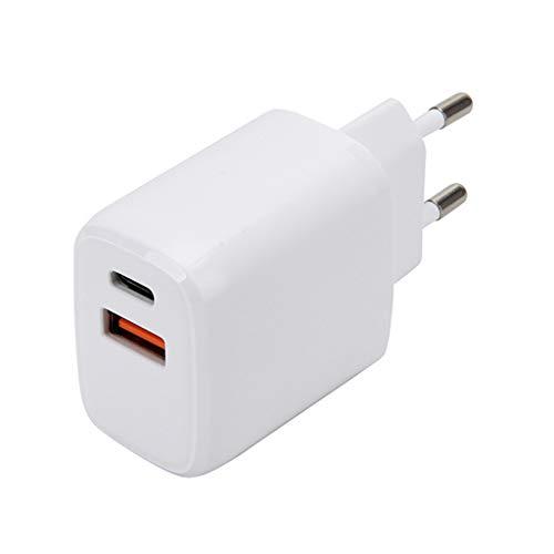 ATATMOUNT Dual PD 20W Cargador rápido USB C Cargador Cable Adaptador de Corriente Cargador Teléfono Inteligente para iPh One 12