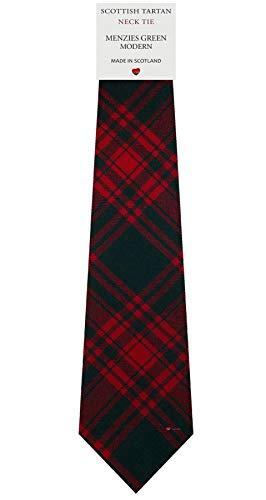 I Luv Ltd Cravate en Laine pour Homme Tissée et Fabriquée en Ecosse à Menzies Green Modern Tartan